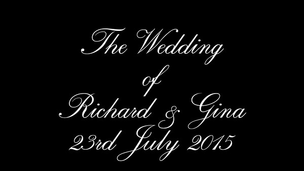 Riggy & Gina wedding video