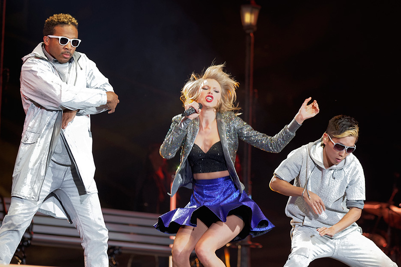 . Taylor Swift performs at Ford Field in Detroit on May 30, 2015. Photo by Ken Settle