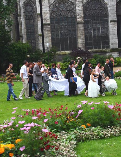 Saturday was wedding day in Rouen
