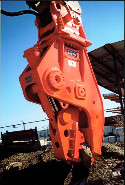 NPK U21J concrete pulverizer on Cat excavator at Carr Bros (7).JPG