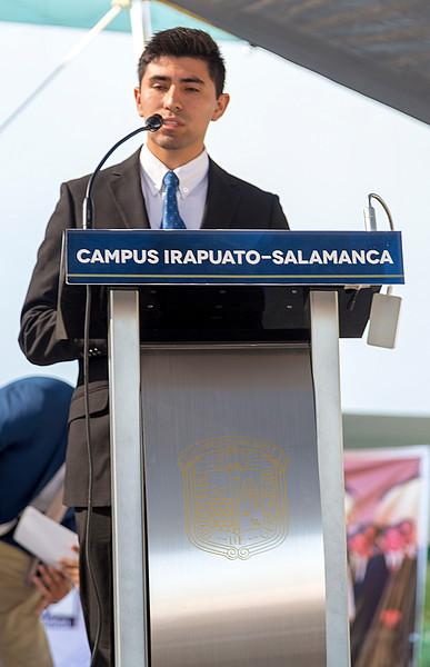 Adam Hernandez speaking on behalf of student ASME section