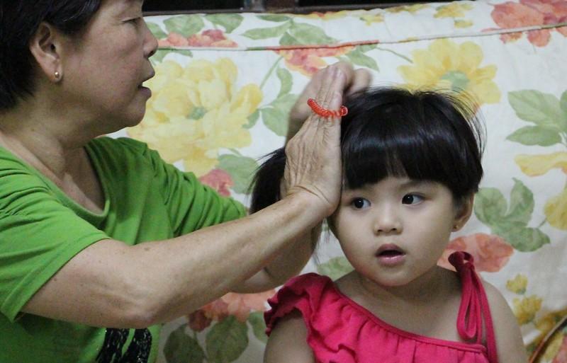 niece hair - closeup
