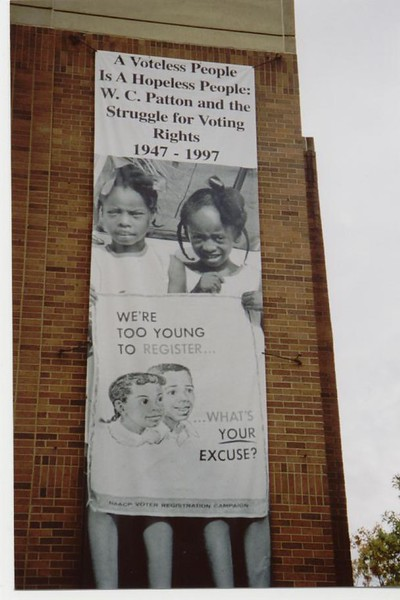 Voting Rights poster in Birmingham - Bob Durkee