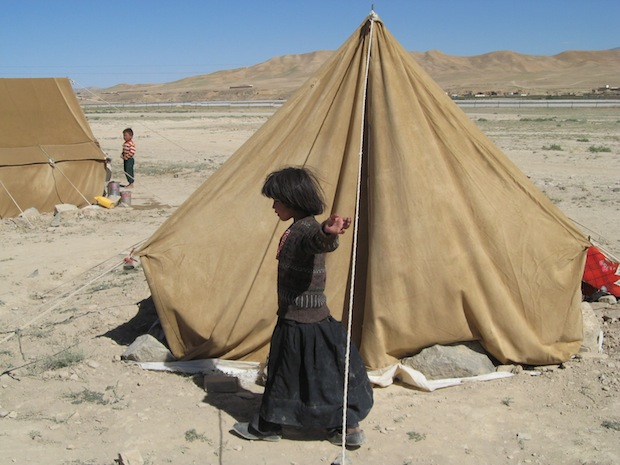 Girl in an Internally Displaced Persons (IDP) camp in Afghanistan