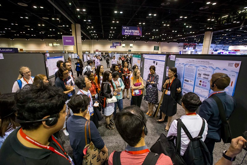 Attendees and speakers during General Poster Session/Moderated Poster Discussions