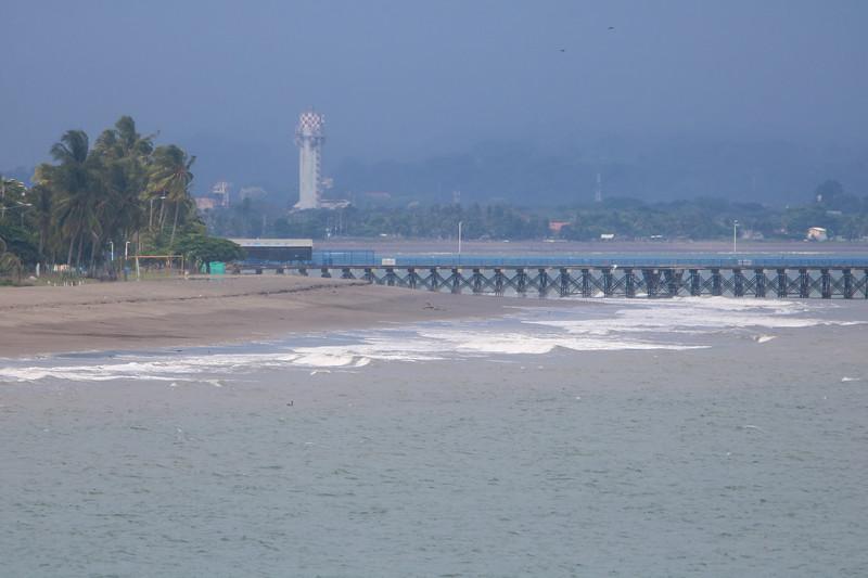 Empty beach in Puntarenas, Costa Rica