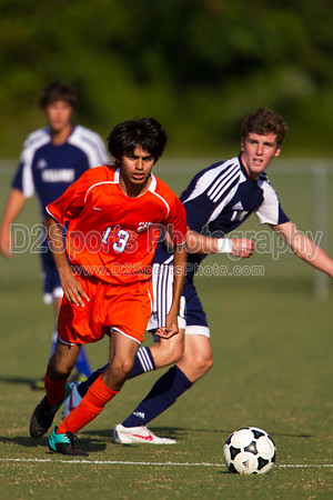 Glenn Bobcats vs Bishop McGuinness  Villains Men's Varsity Soccer 8/16/2012