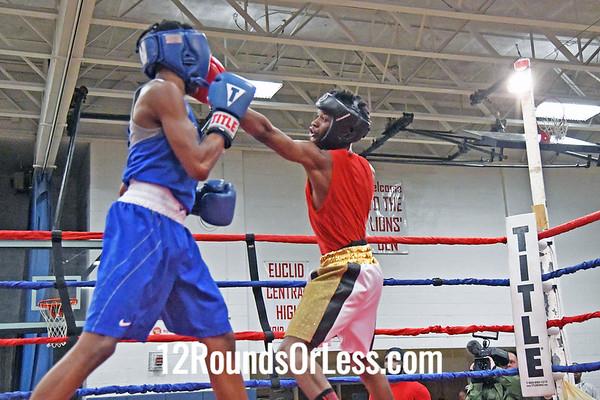 Bout #8:  Abdurrahman Mason, Little Giants BC, Cleveland, OH   vs   Michael Dawson Jr., Capital Punishment Boxing, Cincinnati, OH  -  123 Lbs.