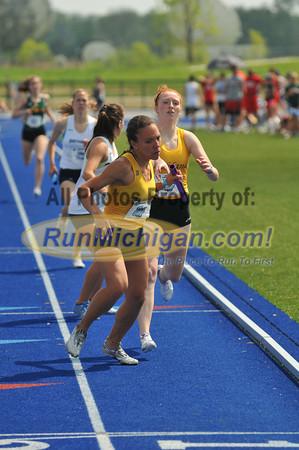 Women's 4x400 Meter Relay Final - 2012 GLIAC Outdoor T&F