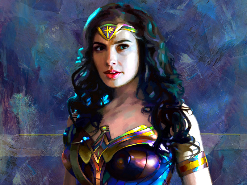 Gal Gadot in Wonder Woman - digital painting