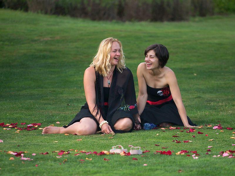 Mike Schrepfer and Suni Dawn celebrate their wedding