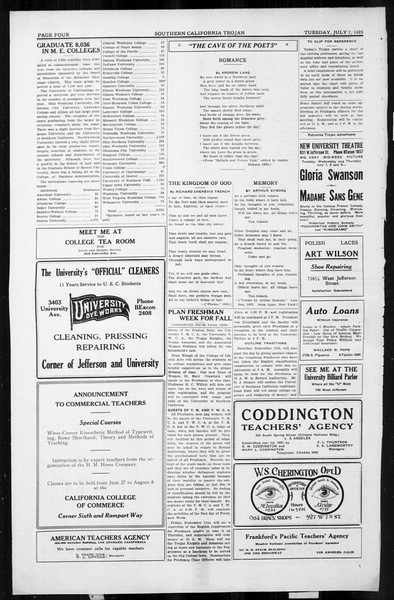 The Southern California Trojan, Vol. 4, No. 3, July 07, 1925