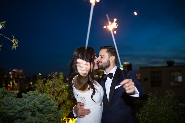 Jenna & Yanik's Modern XV Beacon Hotel Wedding