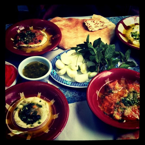 Lunch at Hashem in Amman, Jordan