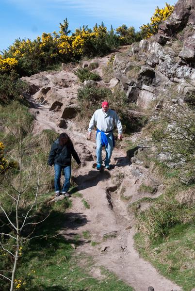 Vaishali and Pete on the hike