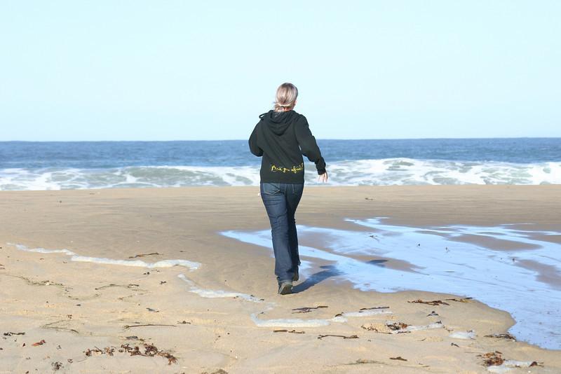 Walking along the wavelines.