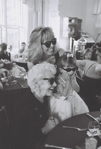 Margit, Caroll and Nadia try on their shades