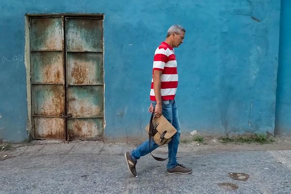 Cuba Havana Blue Wall