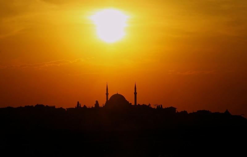 Fatih Mosque from Galata Bridge