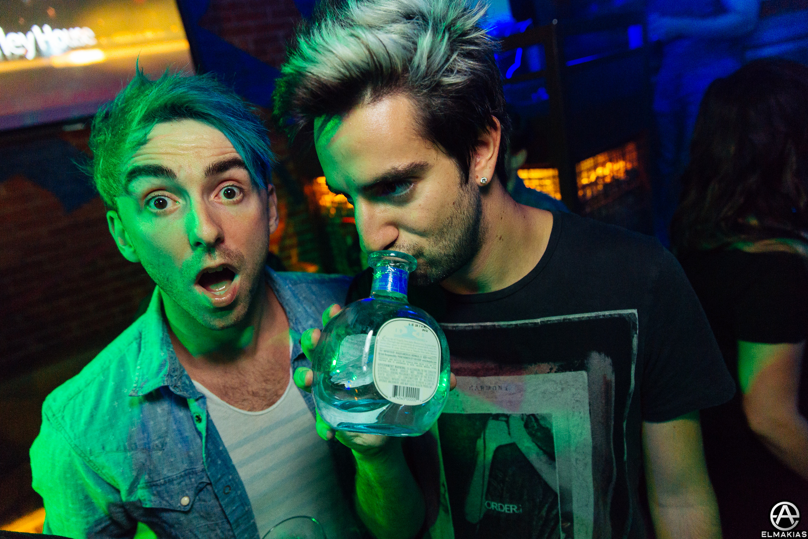 Alex Gaskarth and Jack Barakat of All Time Low at the APMAs 2015 by Adam Elmakias