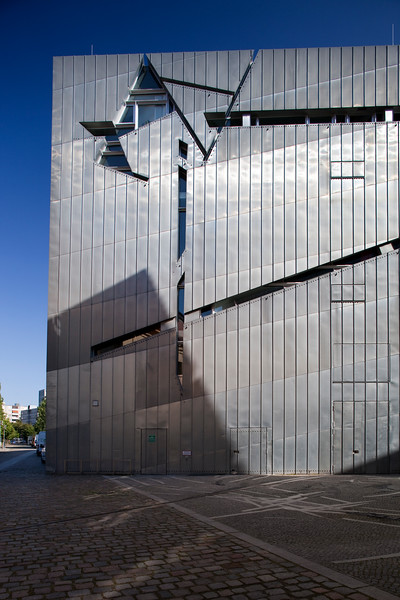 Exterior view of the new building of the Jewish Museum, Berlin, Germany