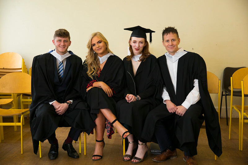 02/11/2018. Waterford Institute of Technology (WIT) Conferring Ceremonies 2018. Conor Rochford Waterford, Megan Decourcey Waterford, Maeve Cullen Wicklow, Ruaidhri Bates Kilmore quay. Picture: Patrick Browne