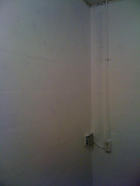 Primed wall.  Still needs a little primer