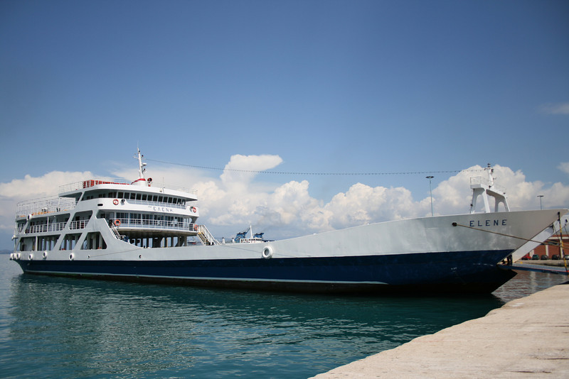 F/B ELENE moored in Corfu.