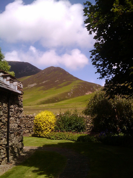 The view from the cottage's breakfast table