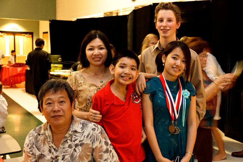 Joshua with his girlfriend, Lilly, and her family - May 2011