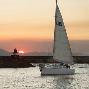 Dartmouth Sunset Sail at OCSC Sailing 08/05/15