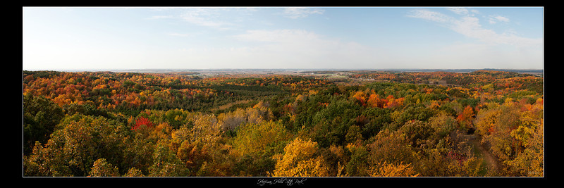 Hoffman Hills Fall Colors Panorama