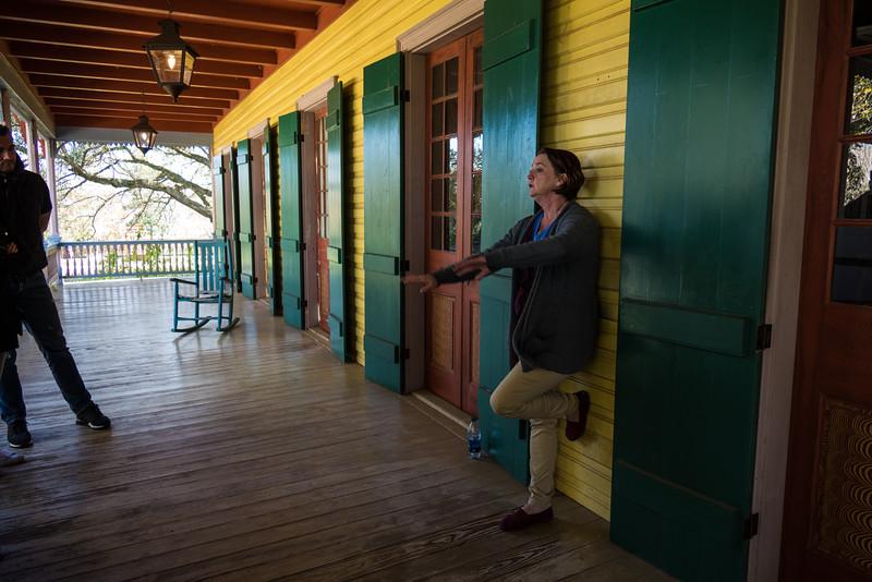 Creole plantation house porch