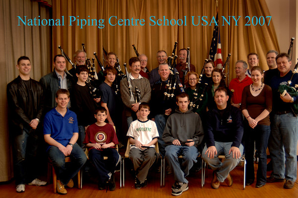 2007 National Piping Centre School USA NY Group