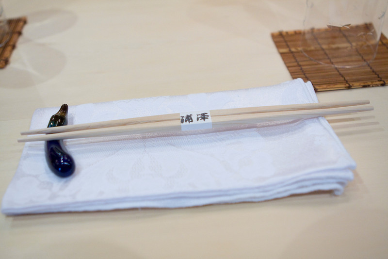 my chopsticks and napkin.