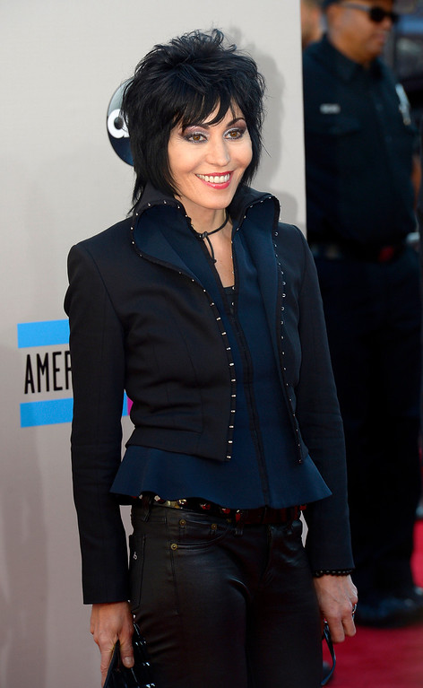 . Joan Jett arrives to the American Music Awards  at the Nokia Theatre in Los Angeles, California on Sunday November 24, 2013 (Photo by Andy Holzman / Los Angeles Daily News)
