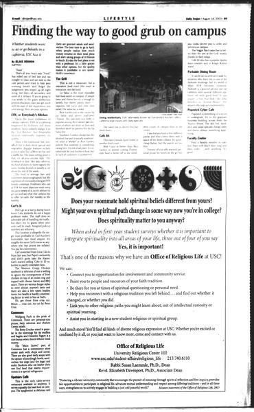 Daily Trojan, Vol. 150, No. 1, August 18, 2003