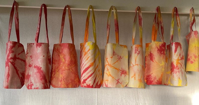 Canvas Bags, Tie-Dyed