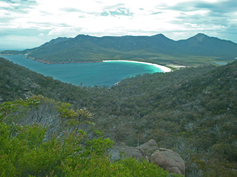 We walked a couple of hours to reach Wineglass Bay - considered one of the top 10 beaches worldwide.