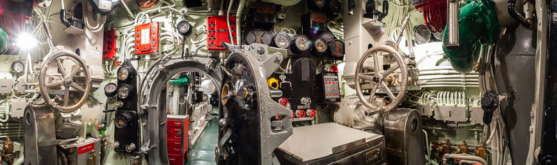 Engine rooms, U.S.S. Drum, Mobile, Alabama, 2004