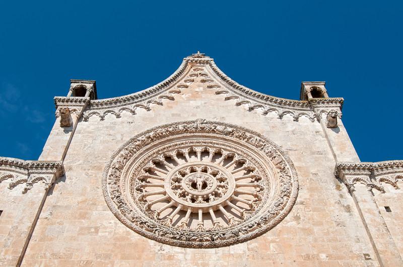 Rose Window (Rosone), Ostuni Cathedral (Cattedrale di Santa Maria Assunta), Puglia, Italy