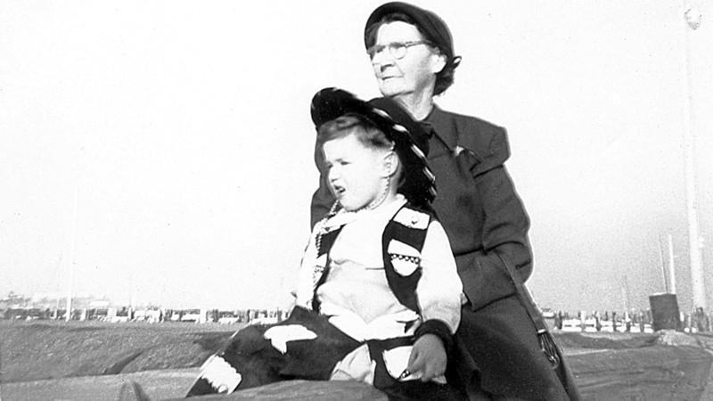 Me and Great Grandma at Fisherman's Wharf 1953