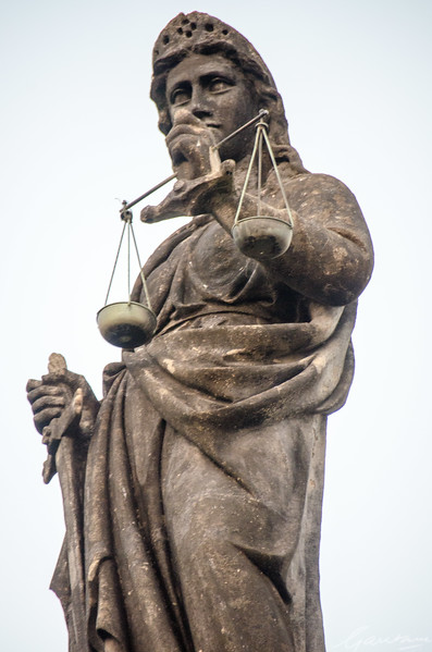 Statue of Justice, North Turret, High Court, Bombay