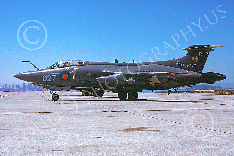 Hawker Siddeley Buccaneer 00013 A static Hawker Siddeley Buccaneer attack jet British Royal Navy NAS Alameda 7-1978 military airplane picture by Michael Grove, Sr.JPG