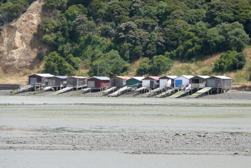 Boat Sheds. Banks Peninsula