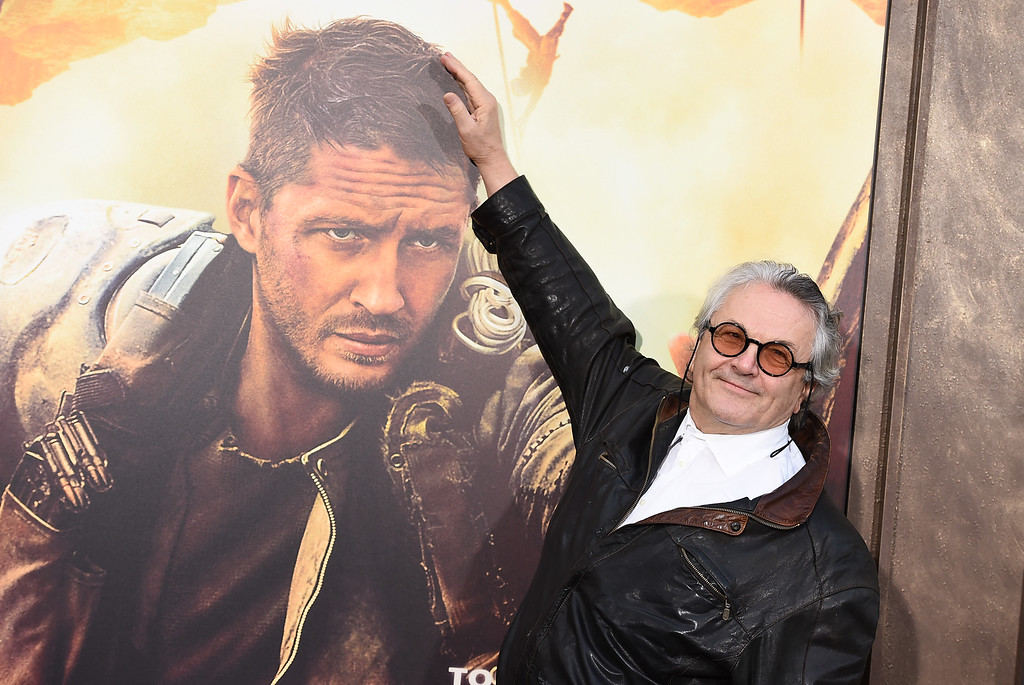 """. In this May 7, 2015 file photo, director George Miller arrives at the Los Angeles premiere of \""""Mad Max: Fury Road.\"""" Miller was nominated for an Oscar for best director on Thursday, Jan. 14, 2016, for the film. The 88th annual Academy Awards will take place on Sunday, Feb. 28, at the Dolby Theatre in Los Angeles. (Photo by Jordan Strauss/Invision/AP, File)"""