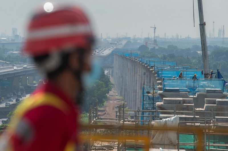 Largest-span continuous beam closed in Indonesia's Jakarta-Bandung high speed rail