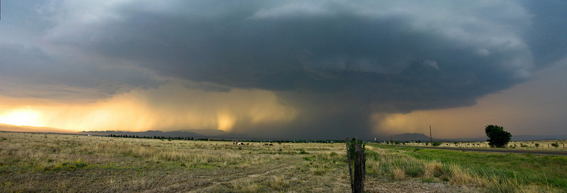 Panoramic view of the supercell