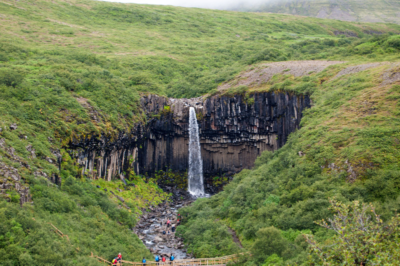 We spent the next day in Skaftafell, but the rain did not give us many options for hiking or sightseeing. We went on a hike from the visitor's center to Svartifoss, a waterfall surrounded by cool looking back basalt columns