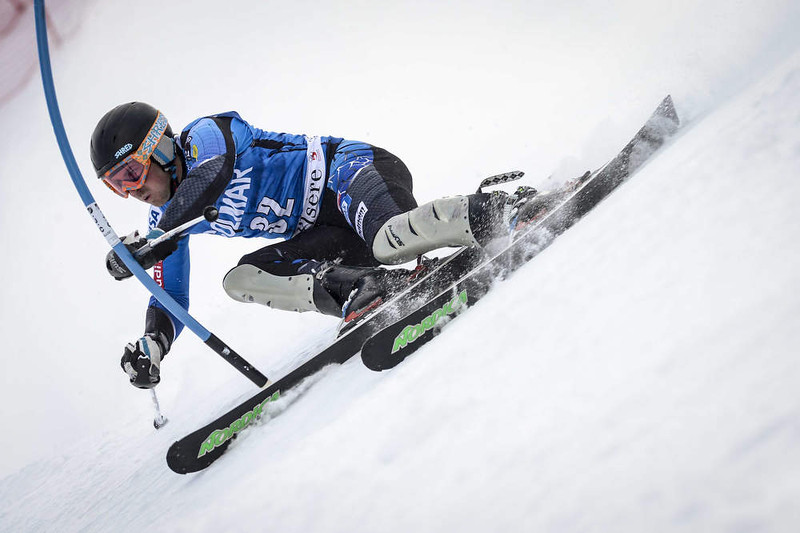 . David Chodounsky of the U.S. competes during the Audi FIS Alpine Ski World Cup Men\'s Slalom December 08, 2012 in Val d\'Isere, France. (Photo by Sindy Thomas/Agence Zoom/Getty Images)